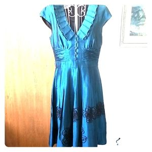 Turquoise coctail dress